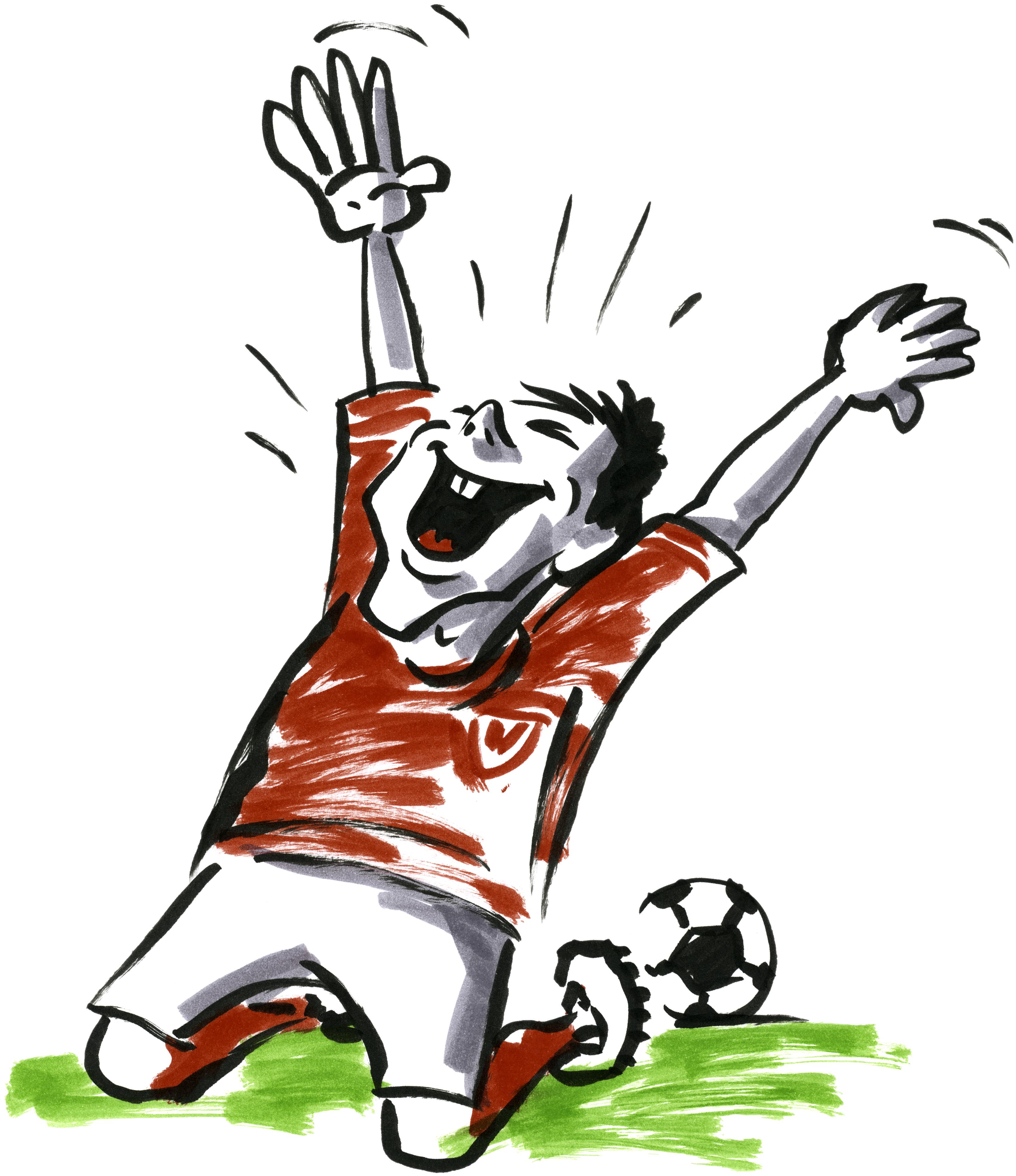 Fußball Jubel